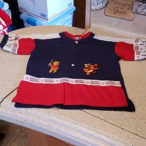 3/$20 Disney Winnie the Pooh Tigger baseball shirt